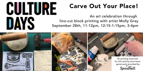 Carve Out Your Place! Block Printing Workshop tickets