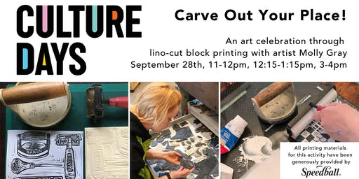 Carve Out Your Place! Block Printing Workshop