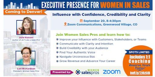 Executive Presence for Women in Sales - Denver
