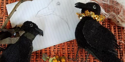 Toymaking: Little Scrap Crows workshop at Ragfinery