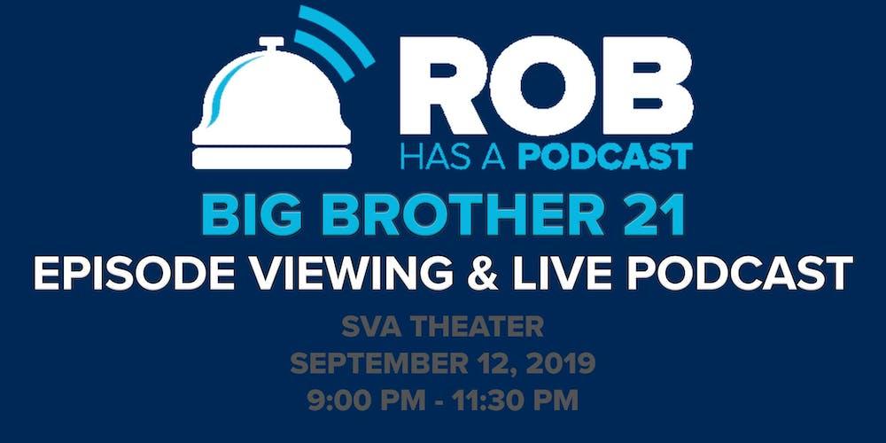 RHAP BB21 LIVE Recap: Thursday, Sept 12, 2019
