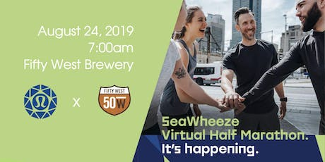 Seawheeze Virtual Half Marathon: lululemon x Fifty West Brewing Company tickets