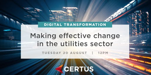 Digital Transformation & Making Effective Change for Utilities: Wellington
