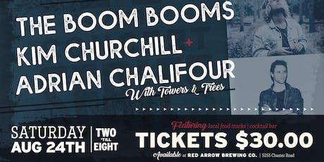 Red Arrow Brewing: The Boom Booms, Kim Churchill, Adrian Chalifour tickets