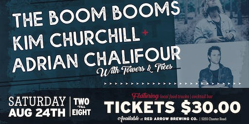Red Arrow Brewing: The Boom Booms, Kim Churchill, Adrian Chalifour