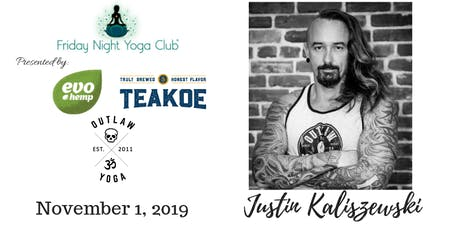FNYC 11/1 HALLOWEEN BASH with Outlaw Yoga!  Justin Kaliszewski is Teaching!  tickets