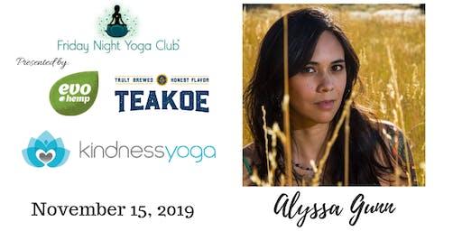 FNYC 11/15 at Kindness Yoga Broadway!  Alyssa Gunn is Teaching!