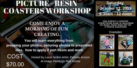 Picture Resin Coasters Workshop tickets