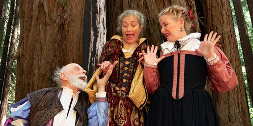 Shakespeare's The Merry Wives of Windsor:  Wknds & Labor Day Aug 17-Sept 8