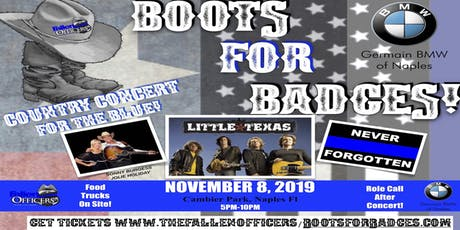 "Germain BMW Of Naples Presents ""BOOTS FOR BADGES"" Concert with Little Texas! tickets"