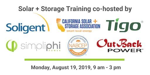 Solar+Storage NABCEP Training by Soligent, Tigo, OutBack & SimpliPhi