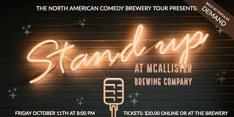 Laughs & Brews at McAllister Brewing Company tickets