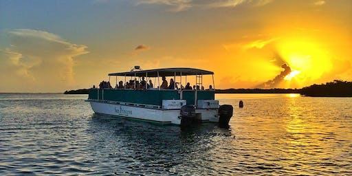 Sunset Pontoon Boat Tour on Jordan Lake