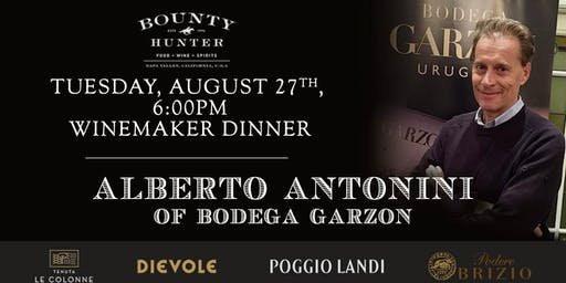 Alberto Antonini Winemaker Dinner at Bounty Hunter Walnut Creek