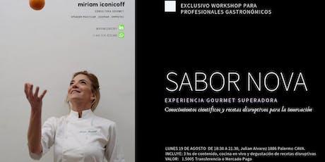 SABOR NOVA Experiencia Gourmet Superadora para Profesionales y foodies entradas