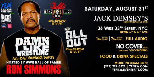 NXT UK TakeOver & AEW All Out Viewing Party hosted by Ron Simmons (DAMN!)