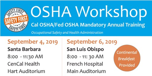 OSHA Workshop: Cal-OSHA Office Staff Training Santa Barbara