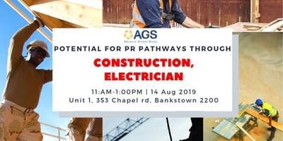 Potential for PR pathways through Construction, Electrician occupations