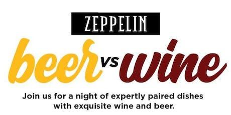 Beer vs Wine Night at Zeppelin tickets