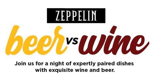 Beer vs Wine Night at Zeppelin