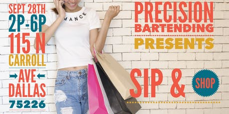 Precision Bartending Presents Sip & Shop tickets