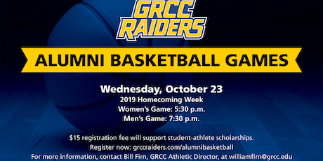2019 GRCC Raiders Alumni Basketball Games tickets