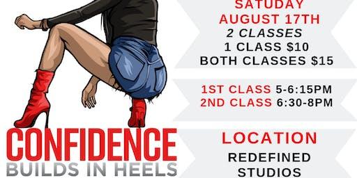 Confidence Builds In Heels Class- CINCINNATI