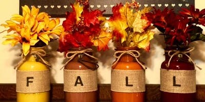 Painted Fall Mason Jars