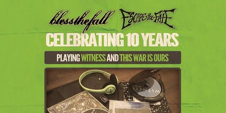 Bless the Fall x Escape the Fate with Islander tickets