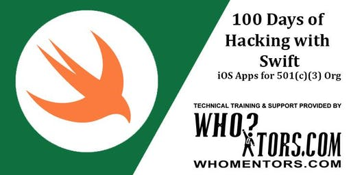 100 Days of Hacking With Swift (Train to Create iOS Apps for 501(c)(3) org)