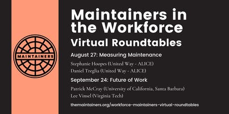 Maintainers in the Workforce Virtual Roundtable tickets