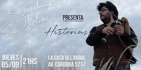 Santiago Molina presenta Historias en La Casa del Árbol tickets