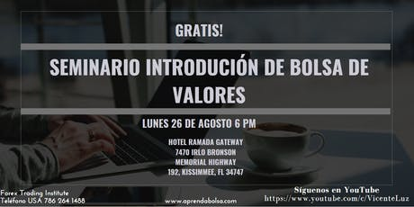 Seminario Introdución Bolsa de Valores tickets