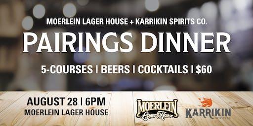 Moerlein Lager House + Karrikin Spirits Pairings Dinner
