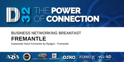District32 Business Networking Perth – Fremantle - Wed 21st Aug