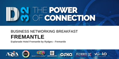 District32 Business Networking Perth – Fremantle - Wed 21st Aug tickets