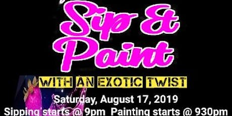 Sip & Paint with Exotic Twist  tickets