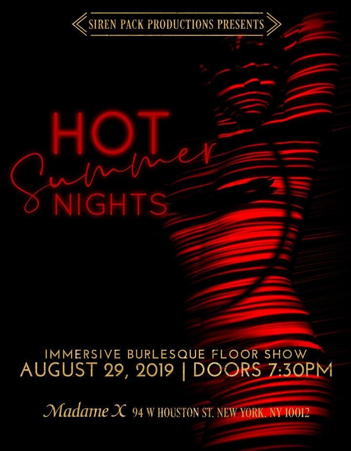 Hot Summer Nights - Immersive Burlesque Floor Show image