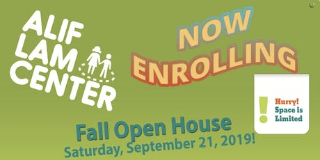 Fall Open House Saturday, September 21, 2019! tickets