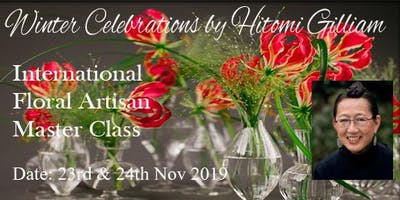 """Floral Artisan Master Class: """"Winter Celebrations - Techniques & Methods"""" by Hitomi Gilliam AIFD (Canada)"""
