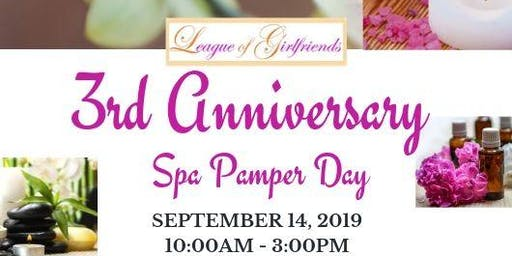 3rd Anniversary Spa Pamper Day
