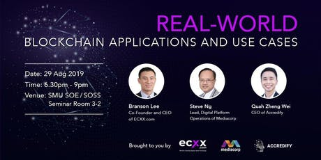 Real-World Blockchain Applications and Use Cases  tickets