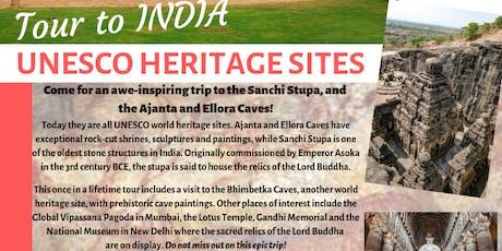 Tour to India - UNESCO Heritage Sites tickets