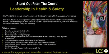 Leadership in Health & Safety  tickets
