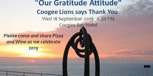 Coogee Lions Club - Gratitude Attitude Night 2019