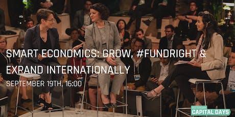 Smart economics: Grow, #Fundright & Expand internationally tickets