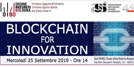 BLOCKCHAIN  FOR  INNOVATION biglietti