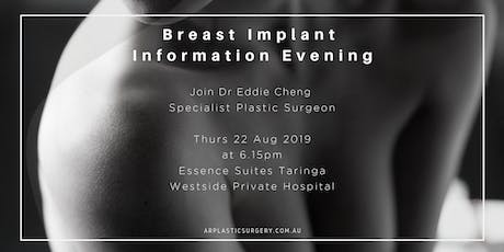 Free Information Evening - Breast Augmentation Surgery tickets
