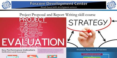 Project Proposal and Report Writing skill course tickets
