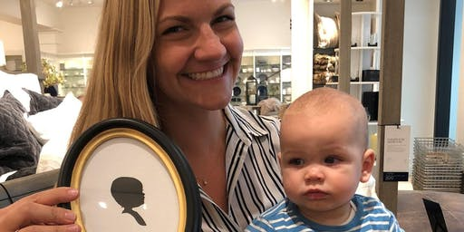 Silhouette Artist Chris Casey at Pottery Barn Kids (Cincinnati, OH)